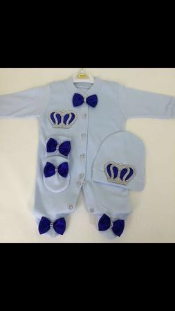 100%cotton newborn baby shower outfit gift 3 pics 0-3 months