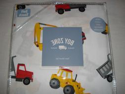 BOY ZONE 100% Cotton TWIN Sheet set CONSTRUCTION VEHICLES/TR