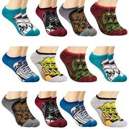 12pk Cute Star Wars No Show Ankle Socks Set For Boys Or Girl
