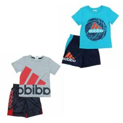adidas 2 Piece Active Set for Boys - Short Sleeve T-Shirt, S