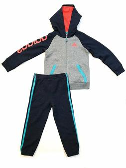 adidas 2 Piece Full Zip Hoodie & Pant Sweatsuit for Boys - H