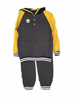 2 piece henley hoodie and sweatpant set