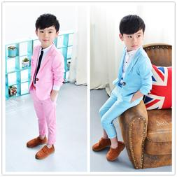 2pc Kids Baby Boys formal clothes For Wedding party concert