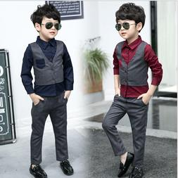 2pcs Toddler Baby Boys Suit For Wedding Jackets Concert Suit