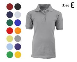 3 Pack School Uniform Polo for Boys Choose Shirts Color - Si