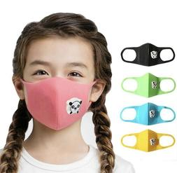 3 PCS Reusable Washable Kids Face Mask With Valve Filter For