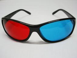 3D Red-blue / Cyan Anaglyph Simple style Glasses movie game-