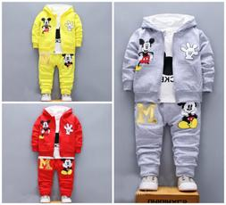 3pcs Baby toddler clothes boys coat+T shirt +pants tracksuit