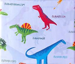Boy Zone 4pc Kids Sheet Set Colorful Dinosaurs with Names Re