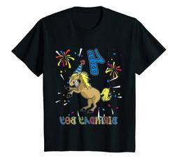 4th Birthday Horse Shirt 4 Years Old Party Gift for Boys
