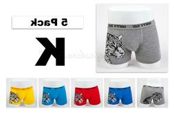 5pc Size 11 10-12 years Comfort Cotton Boys Boxer Briefs L