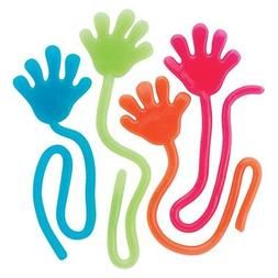 Glitter Sticky Hands 72pc Bright Colors Kids Party Favors Ar