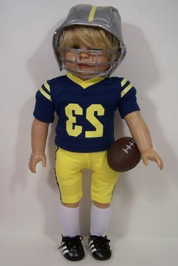 "7pc Complete Football Uniform Doll Clothes For 18"" American"