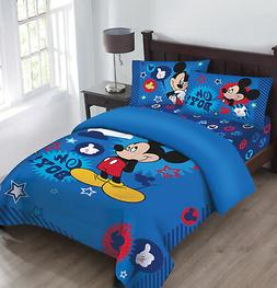 Disney Mickey Oh Boy! Gosh Licensed Full Comforter Set w/Fit