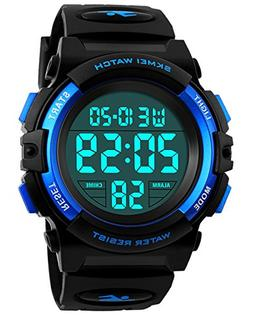Kids Digital Watch, Boys Sports Waterproof Led Watches With