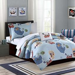 Mi-Zone Kids Ahoy Matey Twin Kids Bedding Sets For Boys - Sk