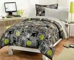 My Room Extreme Skateboarding Boys Comforter Set With 180Tc