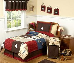 Sweet Jojo Designs 4-Piece Wild West Cowboy Western Children