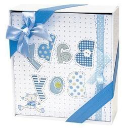 White and Blue Baby Boy Photo Album-4x6 Photos
