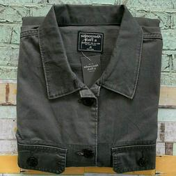 abercrombie and fitch long sleeve jean shirt