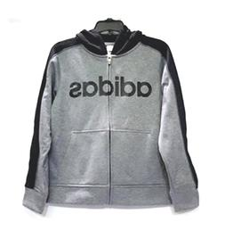 Adidas Active Hooded Full Zip Hoodie for Boys - Gray/Black -