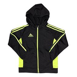 adidas Active Full Zip Hooded Track Jacket for Boys Black/Ye