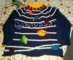 Handmade astro sweater for boy size 7 year old