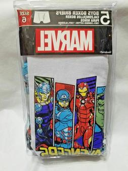Marvel Avengers Boys Boxer Briefs Size 6 - 2 Packs of 5