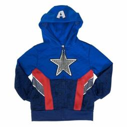 Marvel Avengers Captain America Full Zip Hoodie for Boys - H