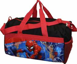 Avengers Spiderman Boys Duffel bag Sleep Over Night Travel c