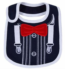 Baby Bibs Set for Boys Water Proof Cotton with Velcro 3-Pack