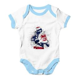 Baby Boy Clothes Ohio American Football Player Shower Romper