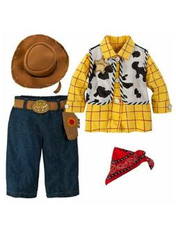 Disney Store Baby Boy Toy Story Woody Costume Outfit & Hat N