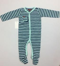 7 For All Mankind Baby Boys Long Sleeve Footie One Piece 6-9