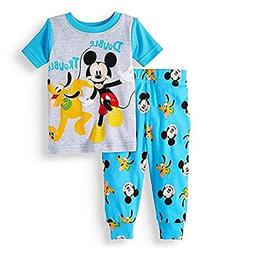 Baby Boys Mickey Mouse Pajama Set Size 18 Months