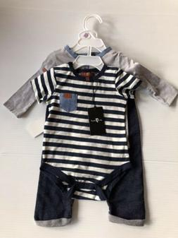 Baby Boys Size 6-9 Months NWT 3 Piece Set 7 For All Mankind