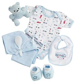 Big Oshi Baby Essentials Gift Basket 9-Piece Layette Set Inf