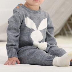 Baby Rompers Set Newborn Rabbit Baby Jumpsuit Overall Long S