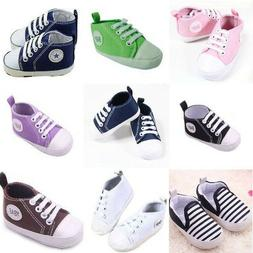 Baby Shoes Boy Sneaker Soft Girl Canvas Newborn For Crib