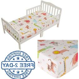 Baby Toddler Bed Sheet Bedding Sheets Soft Cotton For Kids B