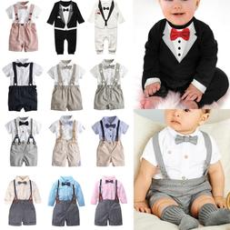 Baby Toddler Boy Wedding Christening Tuxedo Formal Bow Tie S