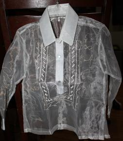BARONG TAGALOG FOR BOYS  SIZE 12  MAY FIT TO 7-8 YEARS OLD B