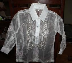 BARONG TAGALOG FOR BOYS  SIZE 8  MAY FIT TO 5-6 YEARS OLD BO