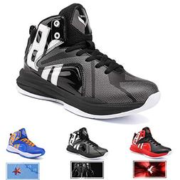 WETIKE Boys Basketball Shoes Lace Up High Top Sneaker Outdoo