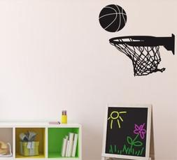 Basketball Sports Ball And Rim For Fans Wall Stickers Vinyl