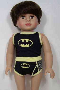 "BATMAN Underwear Shorts & Tee Doll Clothes For 18"" American"