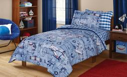 Bedding Sets Full For Boys Kids Comforter Airplane Bed In A