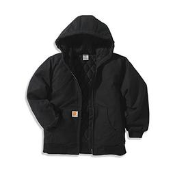 Carhartt Big Boys' Active Quilted Flannel Lined Jacket, Cavi
