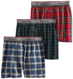 Hanes Big Boys' Platinum  Exposed Waistband Boxer , Tartan P