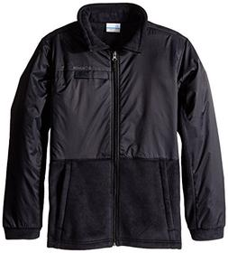 Columbia Big Boys' Steens MT Overlay Fleece Jacket, Black, M